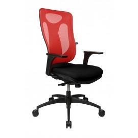 Topstar Net Pro 110 szinkronmechanikás irodai forgószék, piros