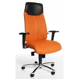 Topstar High Sit Up vezetői szék, állítható karfával, narancssárga