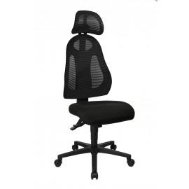 Topstar Free Art X szinkronmechanikás fejtámlás irodai forgószék, s.szürke-fekete