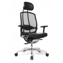 Wagner AluMedic Limited bőr vezetői szék, fekete