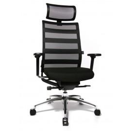 Wagner ErgoMedic 100-1X fejtámlás vezetői szék, fekete