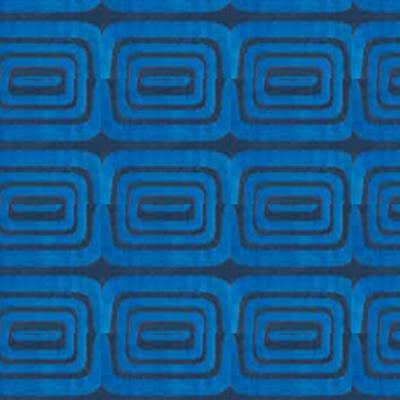 K86 kék mintás (100% poliészter)
