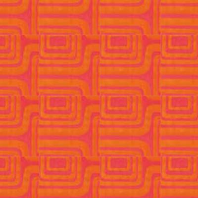 K87 narancssárga mintás (100% poliészter)